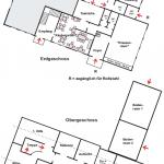 Ein Plan der Raumaufteilung