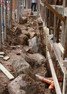 Neue Fundamente für die Einliegerwohnung