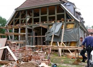 Restaurierung des historischen Nordgiebels